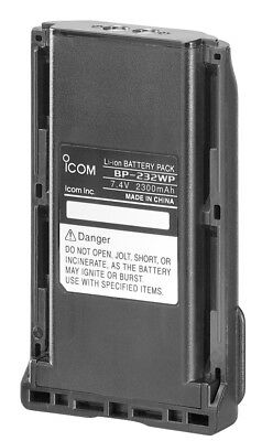 ICOM BP232WP 2300MAH LI-ION BATTERY PACK FOR IC-F15 F25 F25SR F34 F44 ETC x 1