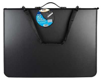 A2 PORTFOLIO DELUXE RING BINDER ART ARTIST PRESENTATION FOLDER CASE & STRAP Tgr