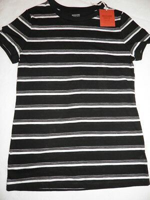 a545b675fd Mossimo Women's Black White Stripe Short Sleeve T-Shirt - Size XS - New