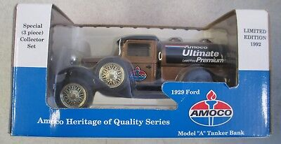 Mib 1992 Amoco Ultimate Le 1929 Ford Model A Tanker Coin Bank Diecast Metal