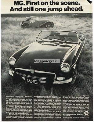 1974 MGB Roadster and 1947 MG-TC Vtg Print Ad