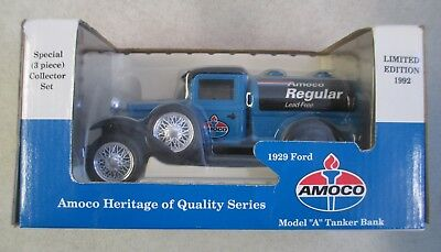 Mib 1992 Amoco Regular Le 1929 Ford Model A Tanker Coin Bank Diecast Metal