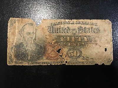 USA  50 Cents 1863  Fractional  --- Low Grade