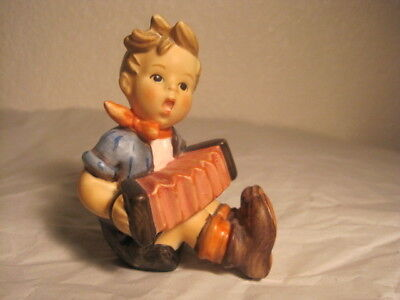 "Delightful Little Goebel Hummel Figure, ""boy With An Accordion"".tmk 6,1985,"