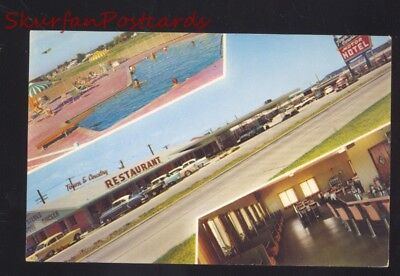 Tulsa Oklahoma Route 66 Town & Country Restaurant Old Cars Postcard