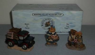 2000 Boyds Bearly-Built Villages Cocoa's House Of Chocolate Set