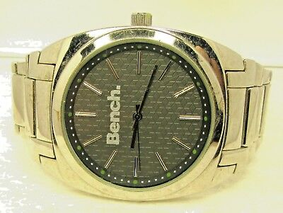 Vintage Mens  Watch By. Bench . Black Face Working Ok.