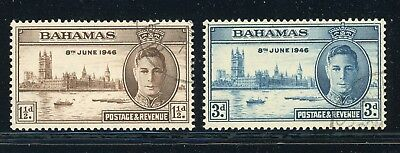 Bahamas Used Selections: Scott #130-131 KGVI Peace Issue WWII (1946) $$