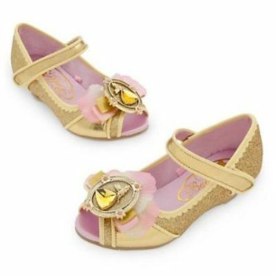 Girl Size 9-10 Belle Costume Shoes Nwt Disney Store