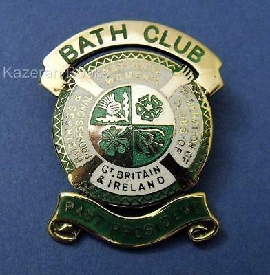 Vintage Solid Silver Gilt & Enamel Past President Fed Professional Womens Clubs
