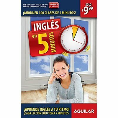 Ingles En 5 Minutos (Ingles en 100 Dias) - Paperback NEW Aguilar (Author 2015-01