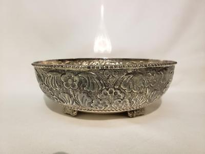 Antique Old Indian Asian Solid Sterling Silver Bowl India Thai Siamese Southeast