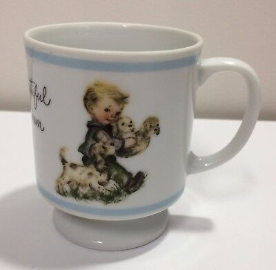 Brownie Child's Drink Cup boy with little puppies Beautiful if You Love Them