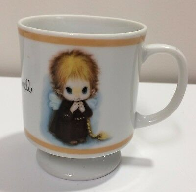 Brownie Child's Drink Cup girl angel long braids Bless us All Great and Small