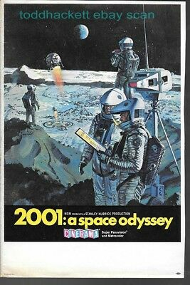 '68 2001: A SPACE  ODYSSEY Original Herald blank back Cinerama Bob McCall Art