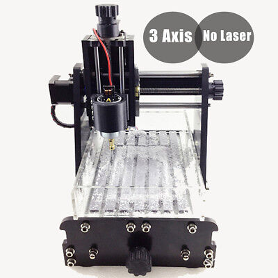3 Axis CNC Router Engraving Cutting PVC Milling Machine Engraver No Laser