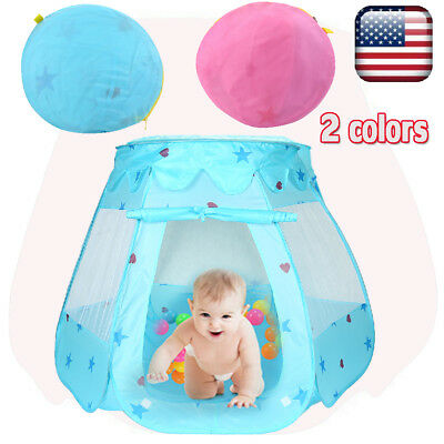 Kids Toys Princess Play Tent Baby for 1-8 Years Old Balls Gifts Pink Portable