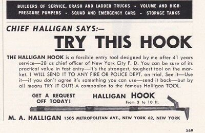Chief Halligan Asks You To Try This Hook    1958  Ad           6850