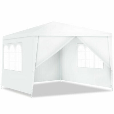 Canopy Party Wedding Event Tent 10'x10' Heavy Duty Outdoor Gazebo Side Walls