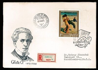 1967 HUNGARY NATIONAL GALLERY PAINTINGS 1Ft DECIMAL STAMP FIRST DAY COVER #A54