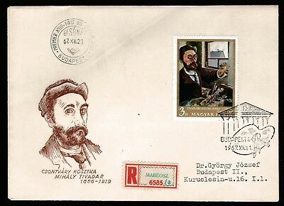 1967 HUNGARY NATIONAL GALLERY PAINTINGS 3Ft DECIMAL STAMP FIRST DAY COVER #A56