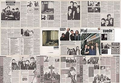 SUEDE : CUTTINGS COLLECTION -adverts interview-