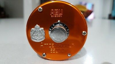 "RARE ABU AMBASSADEUR 5500C SUNSET ORANGE ""ZPI ""Made in Sweden"