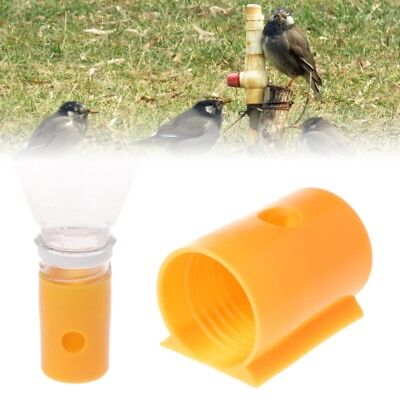 1/5PC Bird Plastic Water Feeder Drinker Feeding Cup Parrot Pigeon Chicken Tools