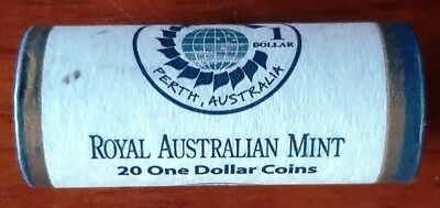 """2011 One Dollar """"CHOGM"""" - Mint Roll of 20 Coins  'Heads/Heads'"""