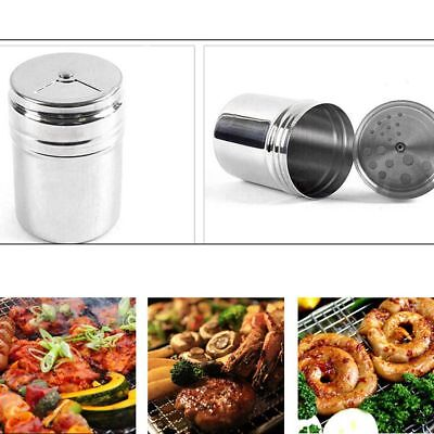 NEW Dredge Salt Sugar Spice Pepper Shaker Seasoning Can Stainless Steel