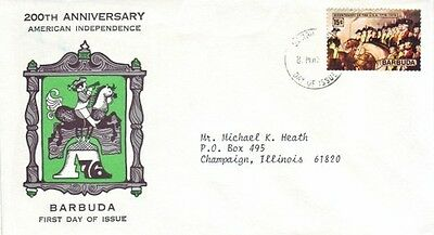 Barbuda - 200th Anniversary of American Independence (PO FDC) 1976