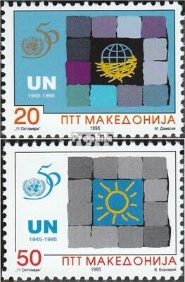 Macedonia 53-54 mint never hinged mnh 1995 50 years UN