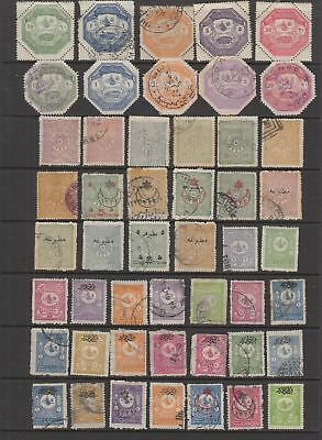 Turkey early collection , 49 stamps.