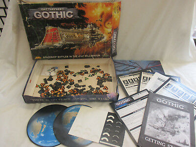 WARHAMMER 40K BATTLE Fleet Gothic Rule Book + Tokens + Templates etc