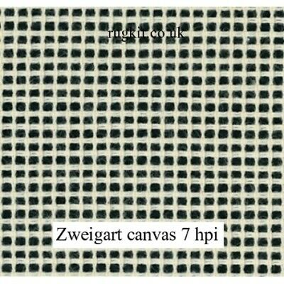 Zweigart Rug making Canvas for Tapestry and Needlework 7 HPI, various lengths.