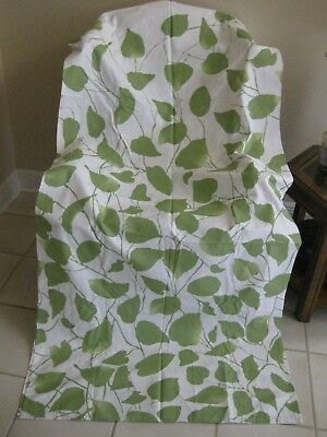 Target Home Green Leaf Shower Curtain 72 X Cotton White Nwot