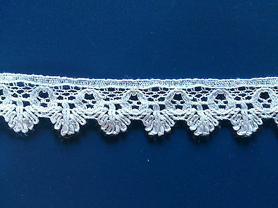 Antique Cluny Cotton Lace Edging Guipure Dolls Dress Little Trimmings Prams Bow