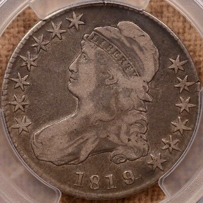 1819/8 O.102 Large 9 Bust half dollar, PCGS F12, our VF20     DavidKahnRareCoins