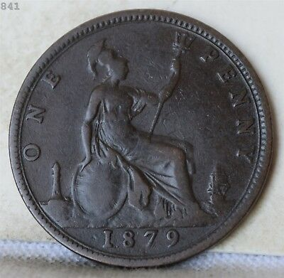 1879 Great Britain One Penny *Free S/H After 1st Item*