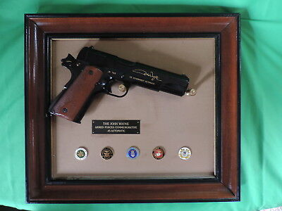 Franklin Mint John Wayne .45 Armerd Forces Automatic Replica Rare L@@k !!!