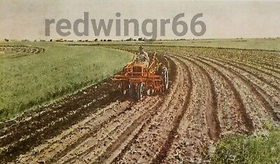 """Vtg 1939 ALLIS-CHALMERS Model """"RC"""" TRACTOR Milwaukee (WI) CARD RPPC-Lot AC """"WC"""""""