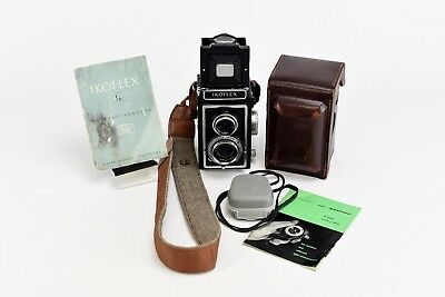 AS-IS Zeiss Ikoflex Ia 1a TLR 120 Roll Film Camera & 75mm W/Manual and Case