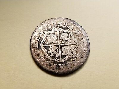 1739 Madrid 1 Real Philip V Spanish Colonial Silver