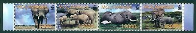 Mozambique Scott #1587 MNH Elephants Fauna WWF STRIP CV$8+ CLEARANCE