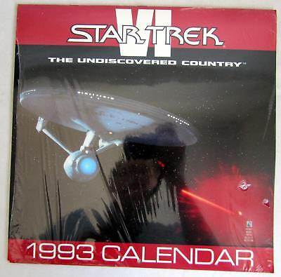 Original 1993 Star Trek VI The Undiscovered Country Calendar 1st Printing SEALED
