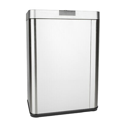 13 Gallon Automatic Sensor Touchless Garbage Trash Can Stainless Steel Motion