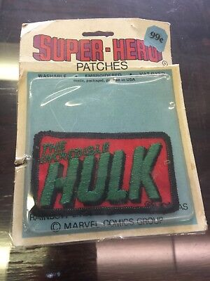Vintage Marvel The Incredible Hulk Patch On Card