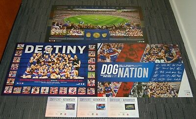 Western Bulldogs 2016 Premiers Destiny Dog Nation Road To Glory Afl Prints Pack
