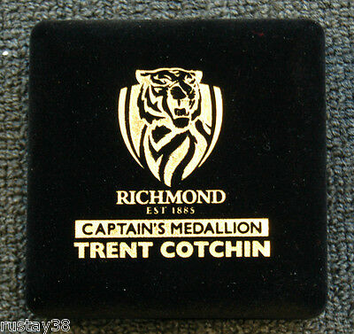 Trent Cotchin Richmond Tigers Afl Signed Medallion In Presentation Box Martin