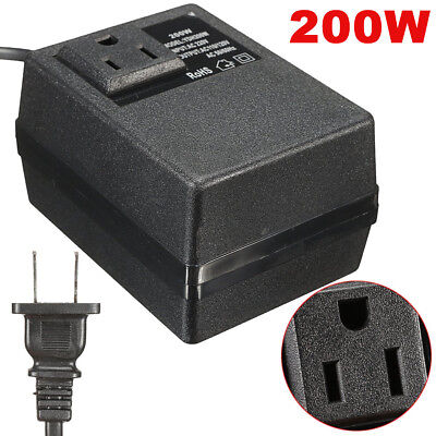 220V/240V à 110V/120V 200W Électronique Tension Convertisseur Transformateur